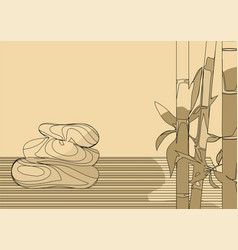 Abstract bamboo and stones vector