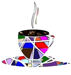 abstract cup of tea vector image