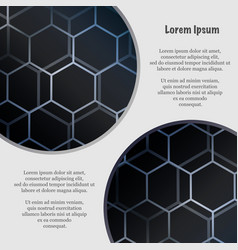 abstract hexagon wallpaper vector image