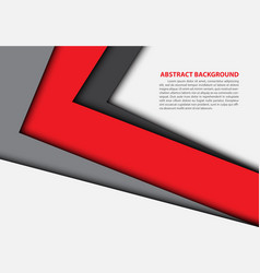 Abstract red gray arrow overlap white vector