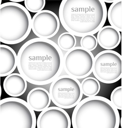 Abstract web design bubble with background vector
