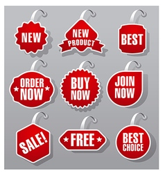 Advertising and promotion badges vector