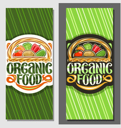 Banners for organic food vector