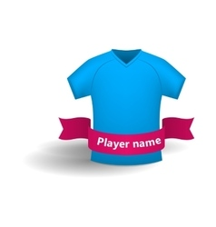 Blue sports shirt icon cartoon style vector image