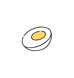 boiled chicken egg hand-drawn icon vector image