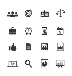 business and time icons vector image