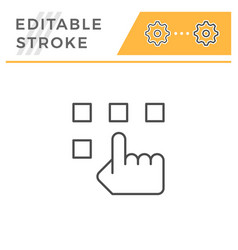 choice editable stroke line icon vector image