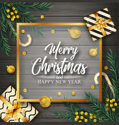 christmas background with elements vector image