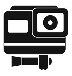 Cinema action camera icon simple style vector