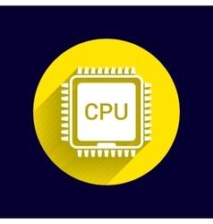 Circuit board icon Technology scheme square vector