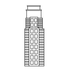 city skyline line style modern architecture and vector image