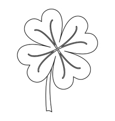 Clover icon outline style vector