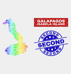 colorful component isabela island galapagos map vector image