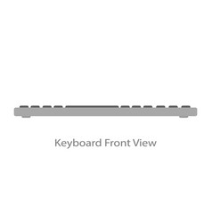 Computer keyboard is light front view vector