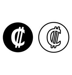 costa rica colon currency symbol icon vector image