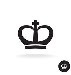 Crown rounded black simple icon vector