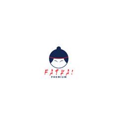 Cute head sumo icon logo design modern vector