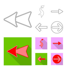 design of element and arrow logo set of vector image