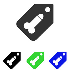 Dildo tag flat icon vector