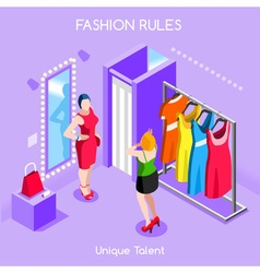 Fashion Moods 01 People Isometric vector