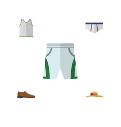 flat dress set of underclothes male footware vector image