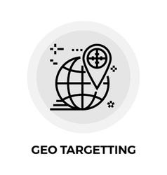 Geo targeting line icon vector