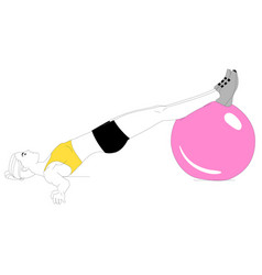 Girl is doing sports exercises vector