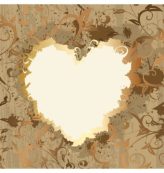gold frame Valentine's vector image vector image