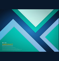 gradient green blue paper cut background with vector image