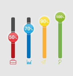 Graph Color Info Graphic Modern Template vector image