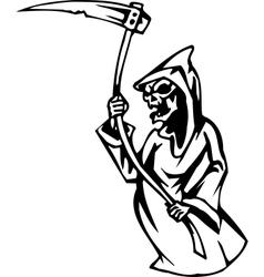 grim reaper - halloween set vector image