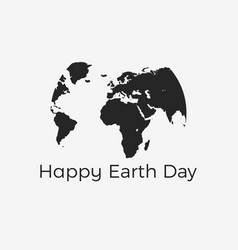 happy earth day continents of planet earth vector image