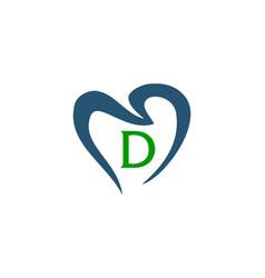 Healthy dental care letter d vector