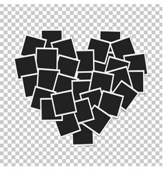 Heart concept made with photo frames isolated vector