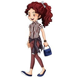 Hipster woman vector