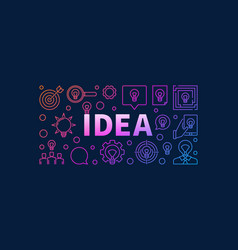 Idea bright vector