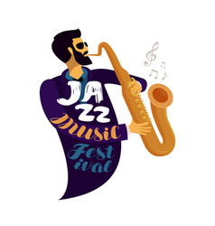 jazz festival live music jive concert concept vector image