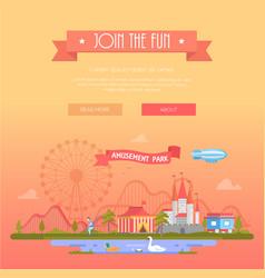 Join the fun - modern vector