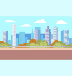 Landscape with skyscrapers and business center vector