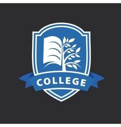 Logo college vector