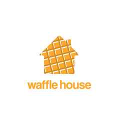 logo template design waffle house vector image