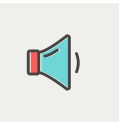 Low speaker volume thin line icon vector image