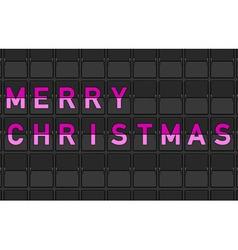 Merry Christmas Flip Board vector
