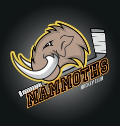 Modern professional mammoths logo for a club vector image