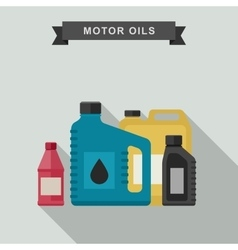 Motor oils icon vector image