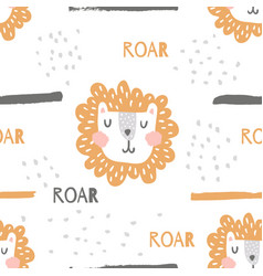 nursery lion pattern vector image