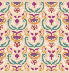 Old indian arabesque damask seamless vector