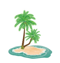 Palm Tree on Island6 vector