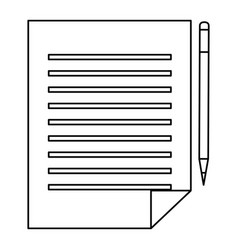 paper documents with pencil vector image