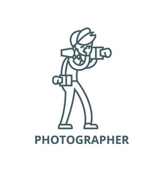 photographer line icon linear concept vector image